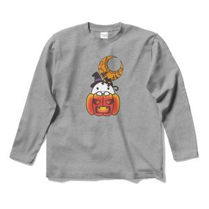 カボチャ畑のふわりん Pumpkin ロングスリーブTシャツ