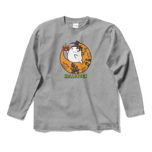 カボチャ畑のふわりん Moon ロングスリーブTシャツ