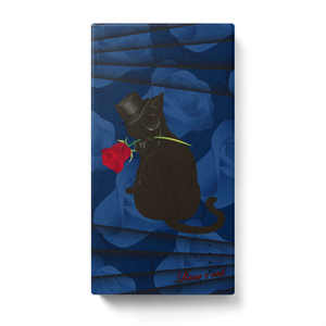 薔薇と猫 GENTLEMEN モバイルバッテリー