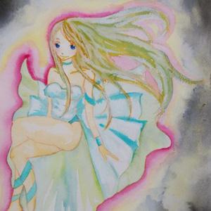 闇に浮かぶ少女(原画)