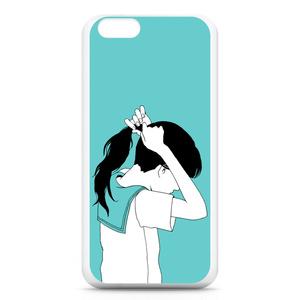 ポニーテール女子のiPhone6ケース
