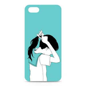 ポニーテール女子のiPhone5ケース