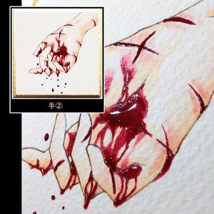 血液ぷっくり原画(ミニ)