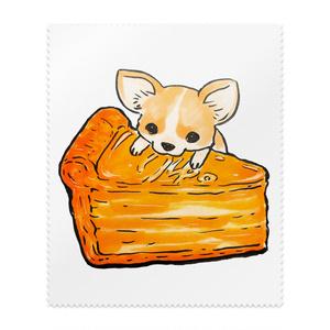 ベイクドチーズケーキとチワワのりゅりゅ。