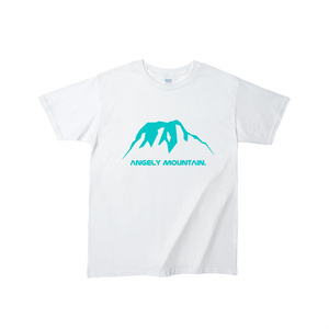 AM_T-shirt(White×Aqua)