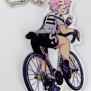 大峠さんアクリルキーホルダー(白い自転車)