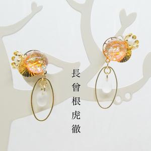 【新選組イメージ】ベネチアンガラスの和風ピアス
