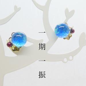 【粟田口イメージ】ベネチアンガラスの和風ピアス