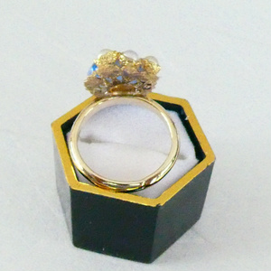 【新刀✿千代金丸イメージ】ベネチアンガラスの和風リング