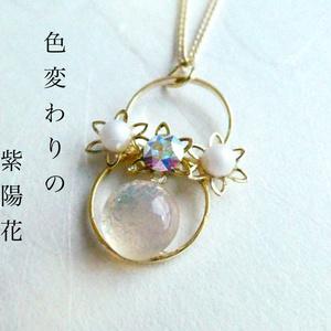 【本丸の庭シリーズ:梅雨】色変わりの紫陽花