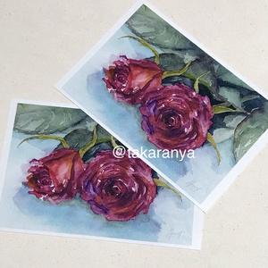 よりそう二人:お花のポストカード2枚セット