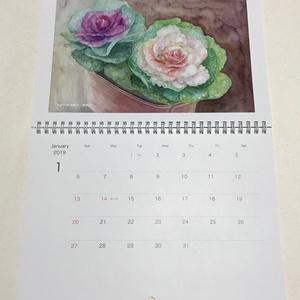 お花のカレンダーあかり花鳥風月2019