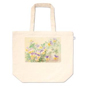 ビオラトートバッグ:パープルバニーの春祭り
