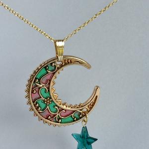 月と星のネックレス