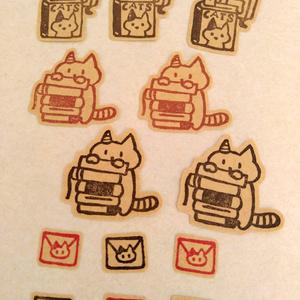 猫と本のシール
