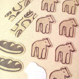 いのしし埴輪とパンのミニレターセット