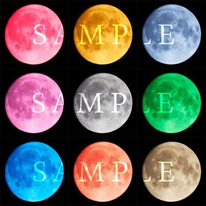 月データ 中秋の名月 9色 計9枚