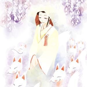 狐の嫁入り(ポストカードサイズ)
