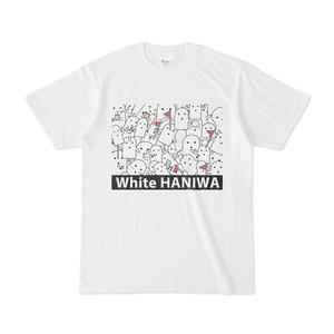 白いハニワ【ロゴ・うじゃうじゃTシャツ】
