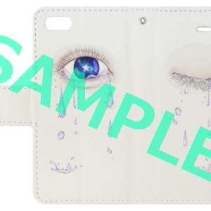涙 手帳型iPhone5、5S、SEケース