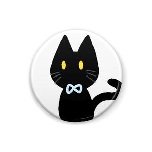 黒ネコ缶バッチ