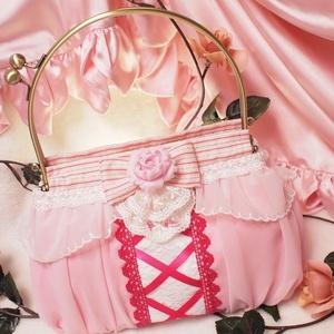 ましろ姫モチーフがま口ハンドバッグ
