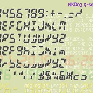 波間のかけひきフォント集・セグメント文字数字包