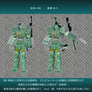 【オリジナル3Dモデル】人型攻城塔 ベルフリー・ルーク[完全版]