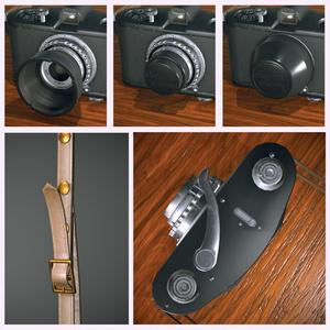 【オリジナル3Dモデル】まんまるレトロカメラ