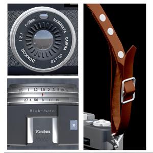 【オリジナル3Dモデル】四角いフィルムカメラ
