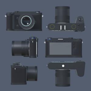 【オリジナル3Dモデル】ファインダーレスデジタルカメラ