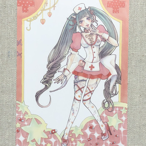 ポストカード「Pink nurse」