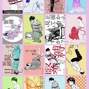 男性緊縛絵シール16種(1シート)