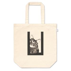 覗き猫のトートバッグ