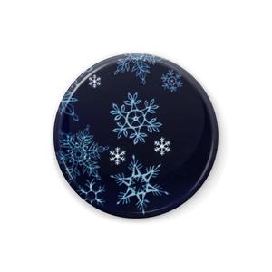 夜の雪の缶バッジ
