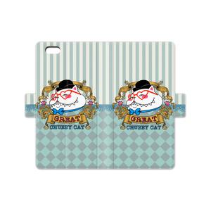 ♡ビクトリアンスタイルのグレート太猫♡手帳型iPhoneケース