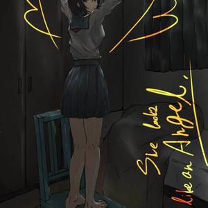 『彼女は天使のようだった』ポスカ