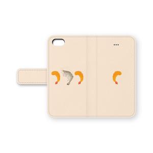 エビフライとエビ 手帳型iPhoneケース