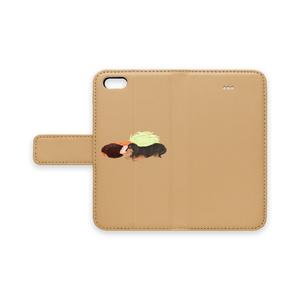 ダックス味噌カツ 手帳型iPhoneケース