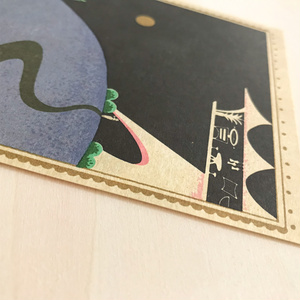 Post card(月夜に読書)