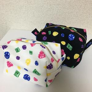 三条宝石柄 キャラメル&BOXポーチ