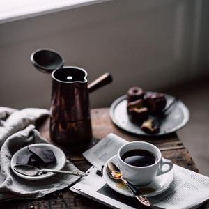 コーヒーチョコレート新聞 iPhoneケース - 正面印刷のみ