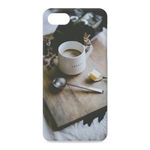 バターコーヒー 仔猫添え iPhoneケース