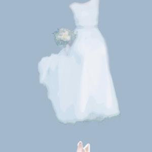 My white dress モバイルバッテリー