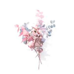 Pink leafs iPhoneケース - iPhone 8 / 7 - 正面印刷のみ