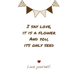 Love yourself iPhoneケース - iPhone 8 / 7 - 正面印刷のみ