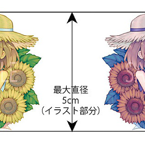 【通販一時停止】花と人間のアクリルキーホルダー(ヒマワリ)
