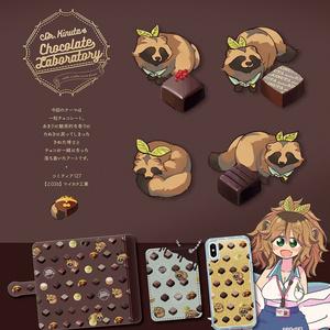 【完売】たぬきとチョコ パスケースセット