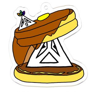 ホットケーキなさんかくんのアクリルキーホルダー
