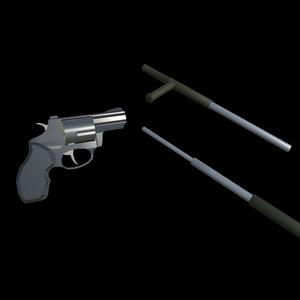 Taurus Revolver and Batons Pack